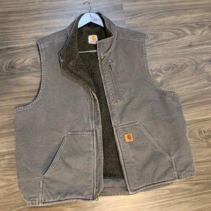 Men's vintage carhartt Sherpa lined vest
